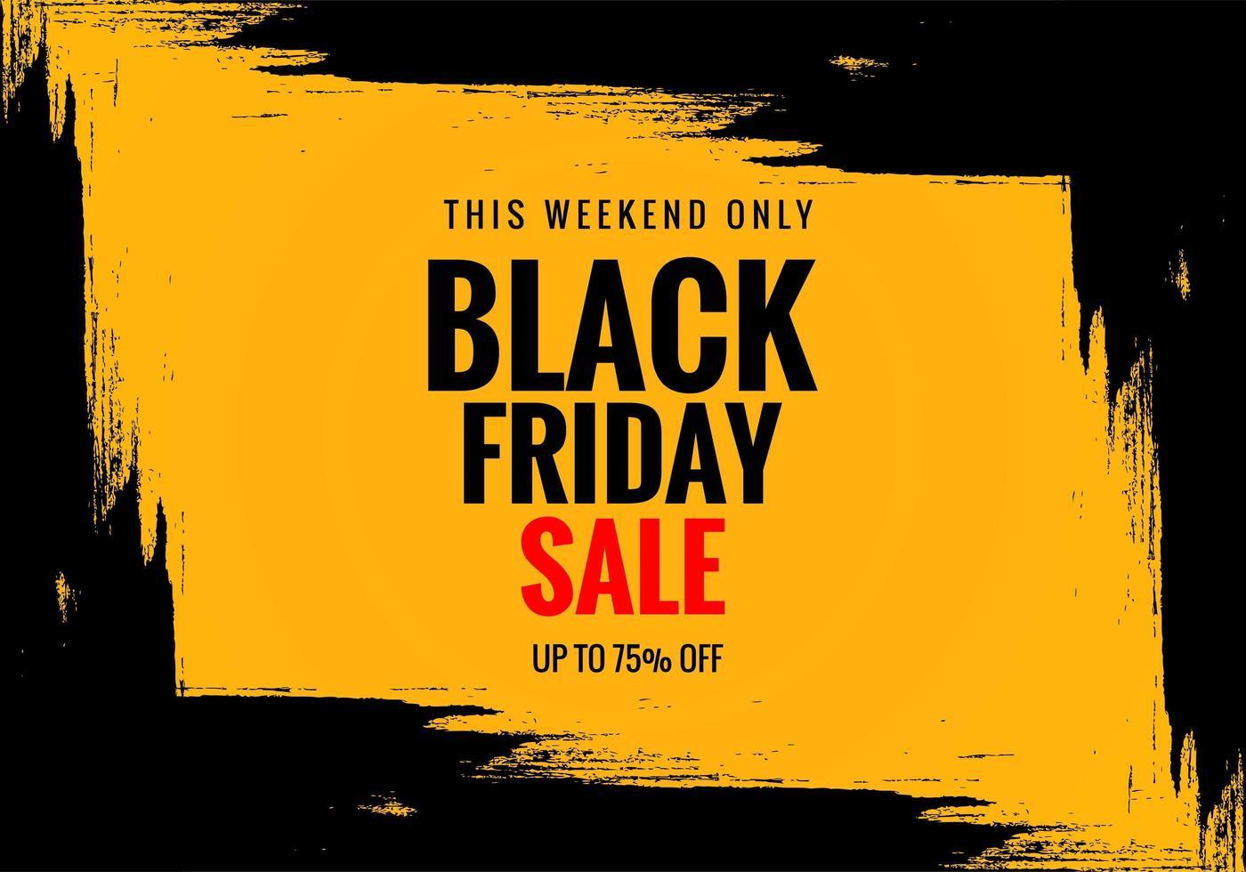 fondo exclusivo de banner de cartel de venta de viernes negro vector