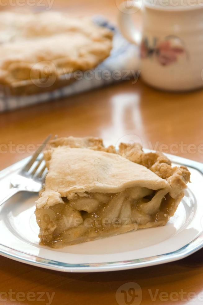 Fresh Hot Apple Pie Served photo