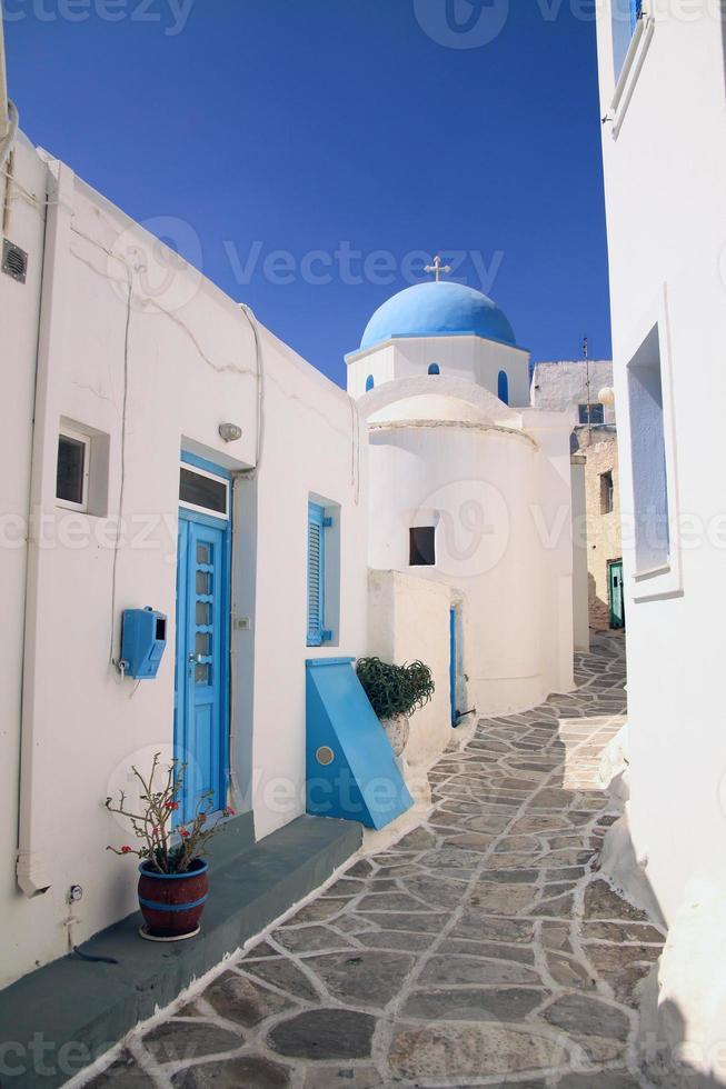 Cyclades casas azul blanco foto