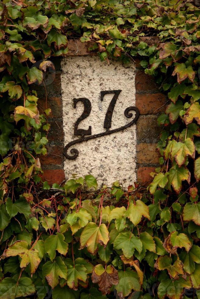 numéro de la maison 27 photo