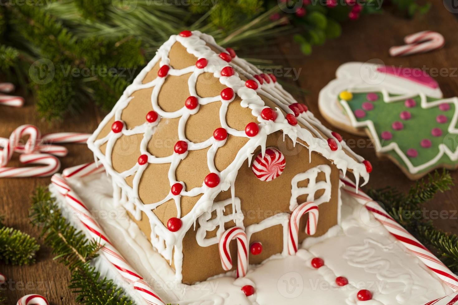 Homemade Candy Gingerbread House photo