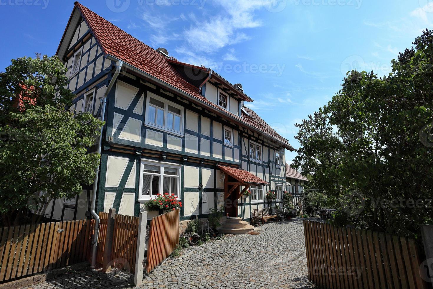 fachwerkerhäuser en hessen en deutschland foto