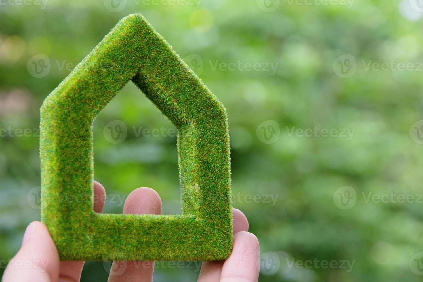 concepto de icono de casa ecológica foto