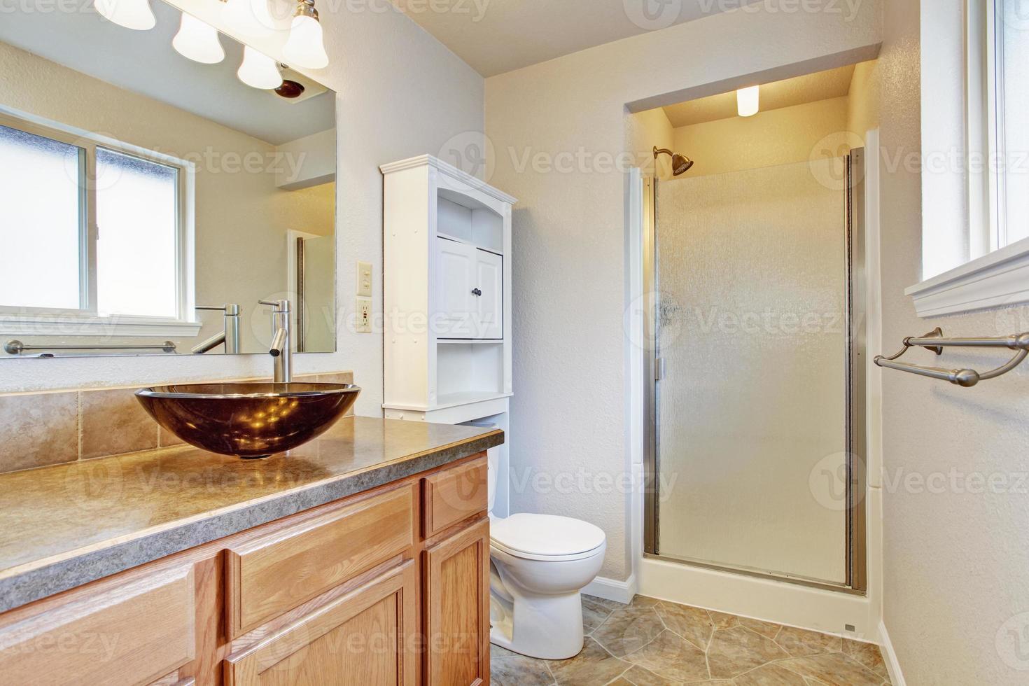 interior do banheiro em casa nova foto