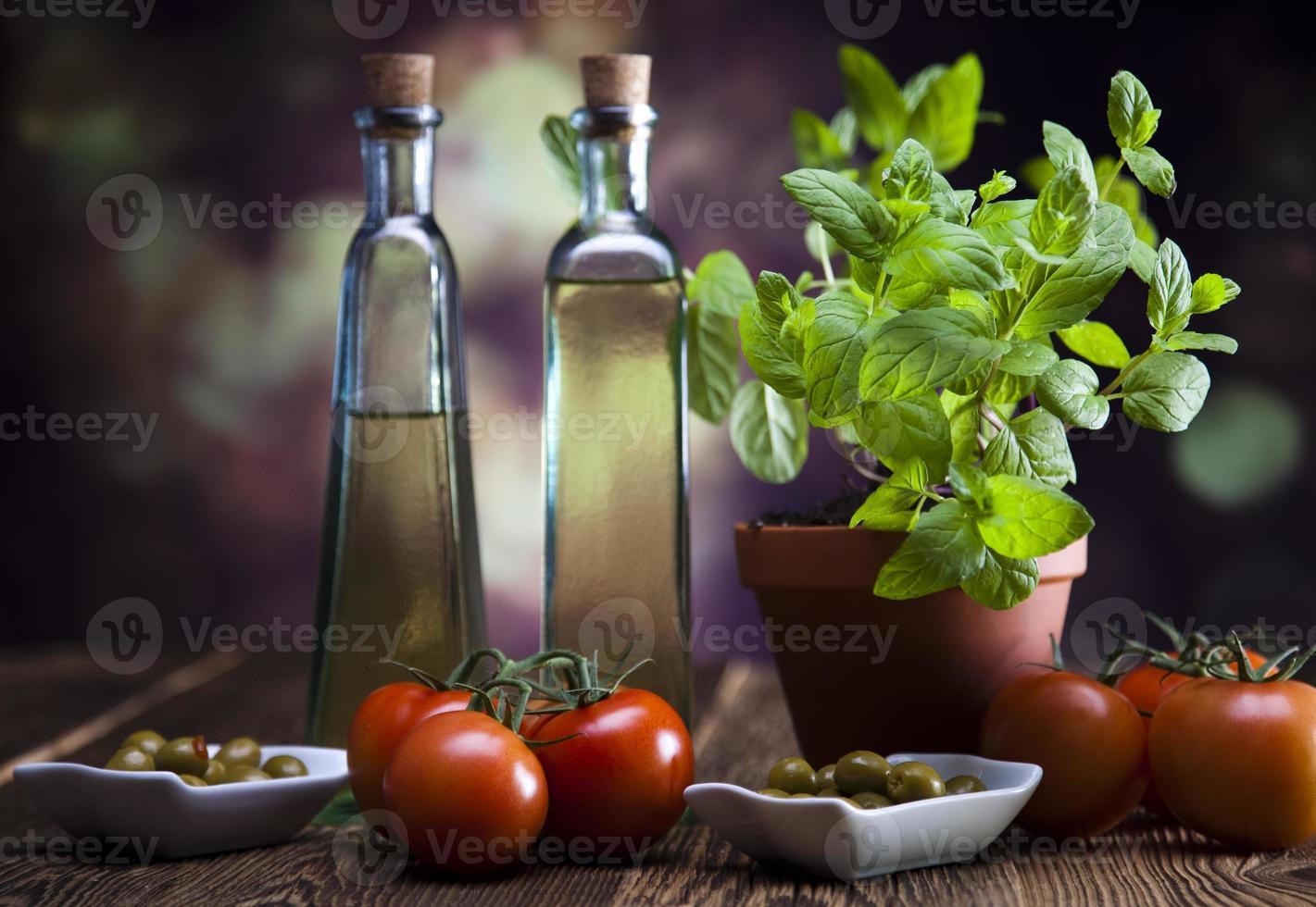 carafe à l'huile d'olive photo
