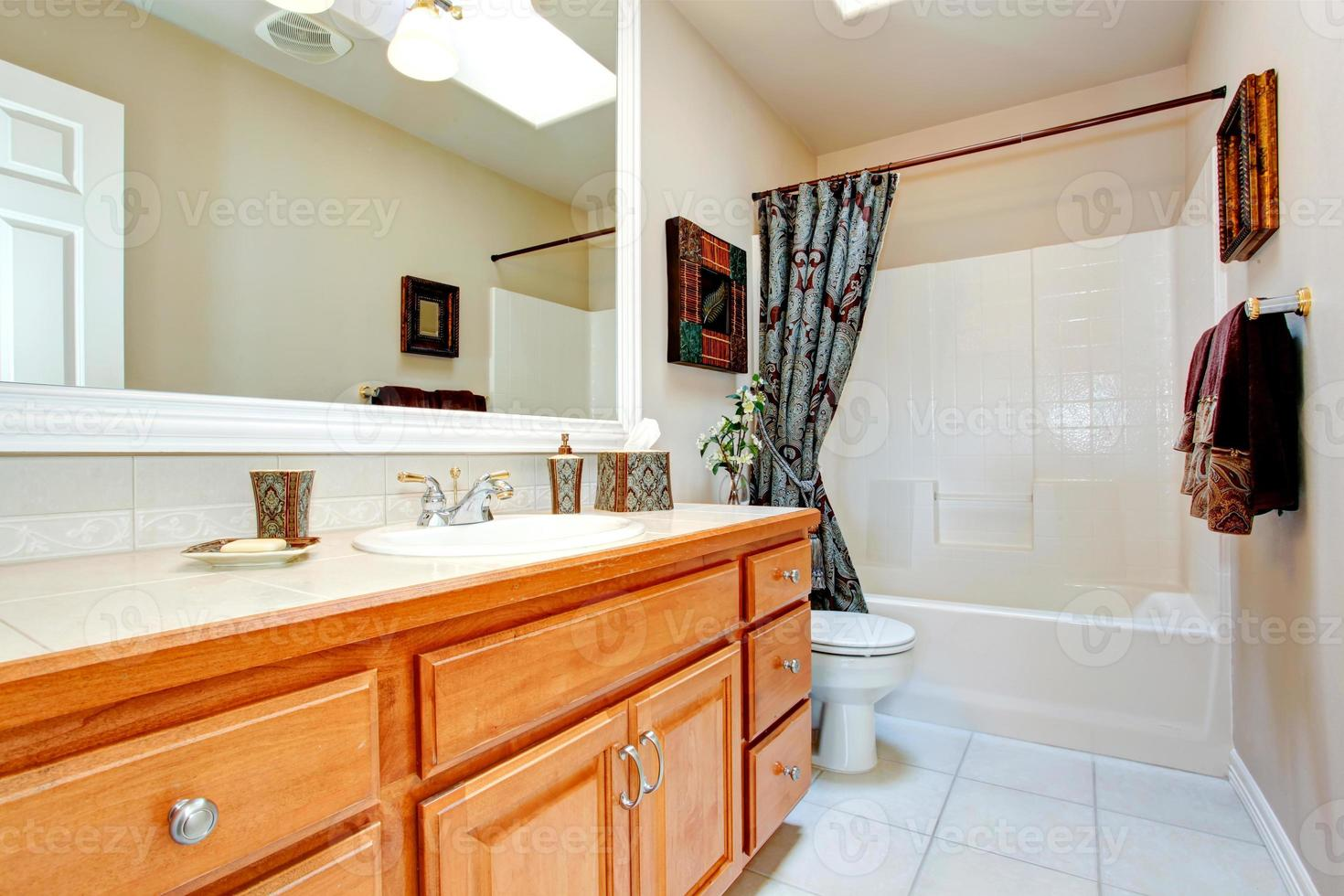 interior do banheiro na nova casa americana foto