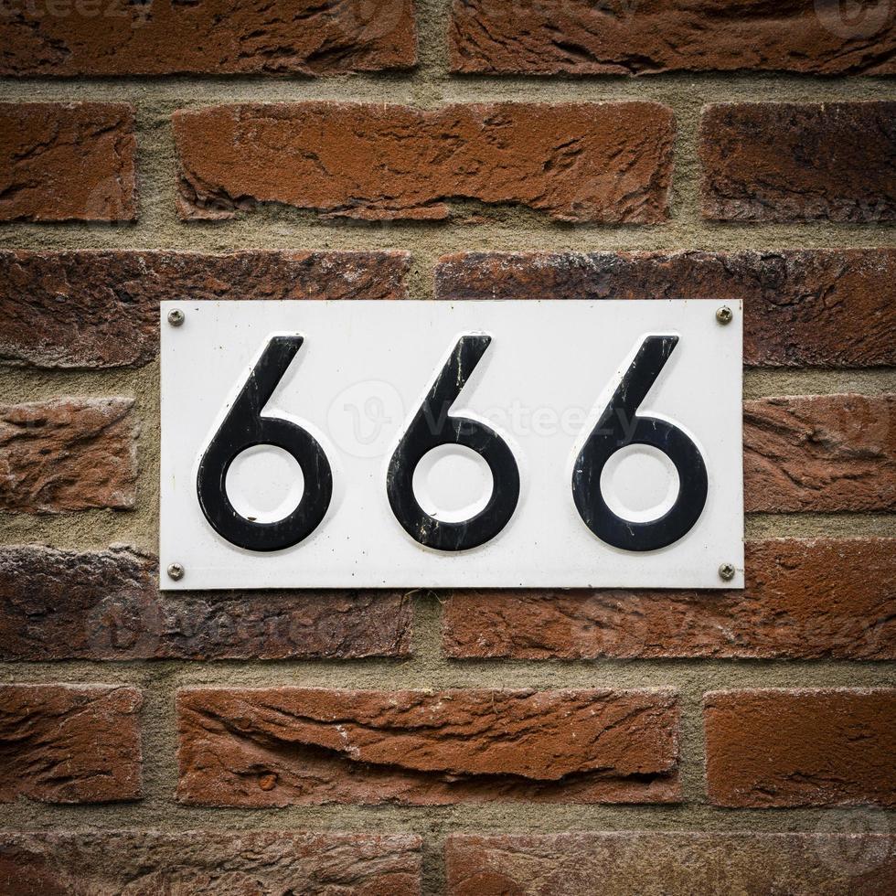 Nummer 666 foto