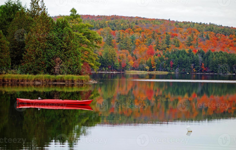 colores de otoño de vermont foto