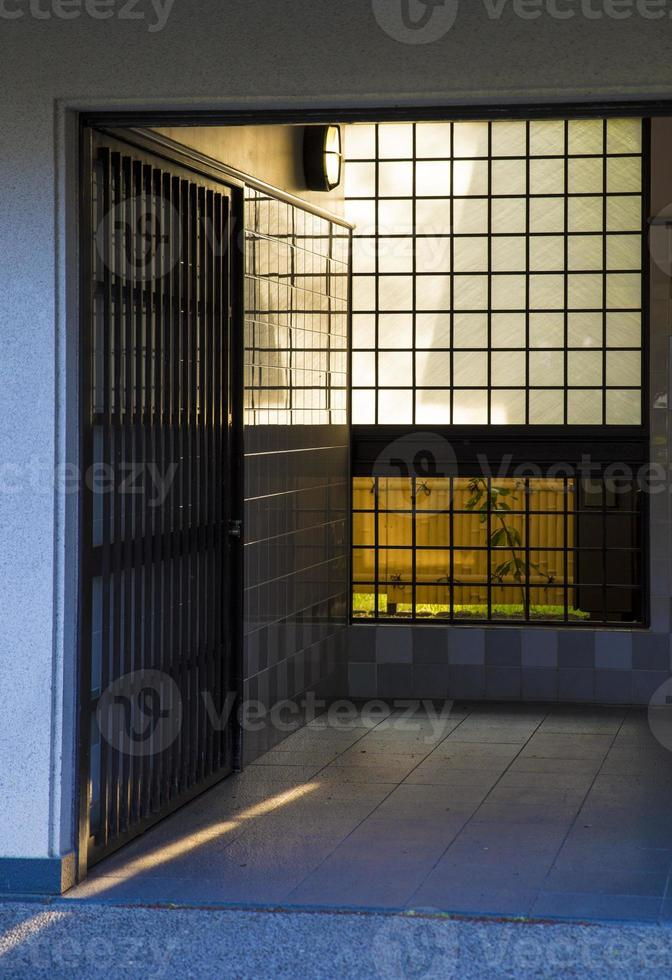 traditional Japanese interior with paper window photo
