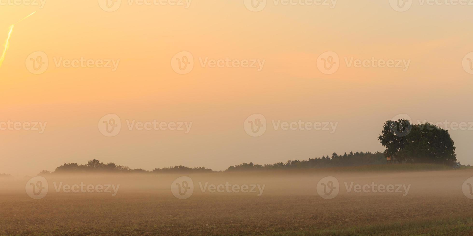 brumoso amanecer bávaro foto