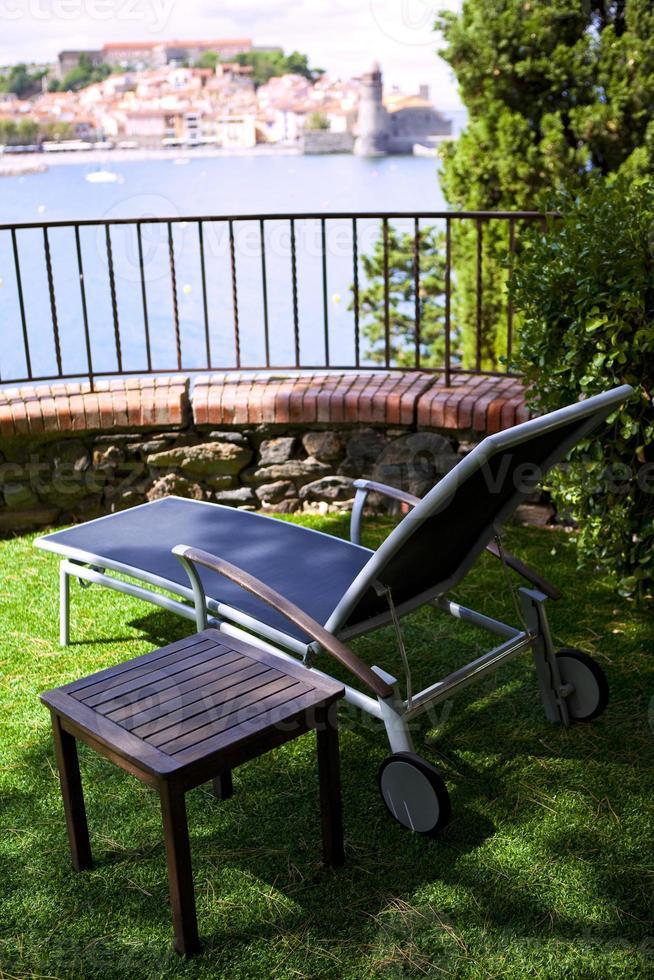 Deck chair photo
