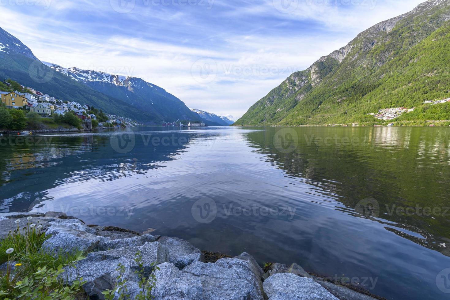 hermoso paisaje de noruega foto