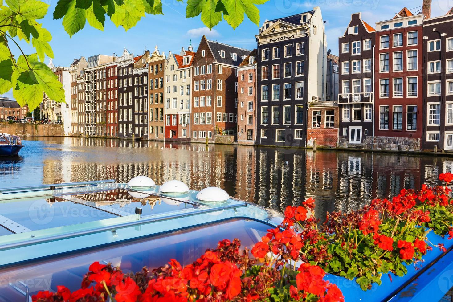 Traditional dutch buildings, Amsterdam photo