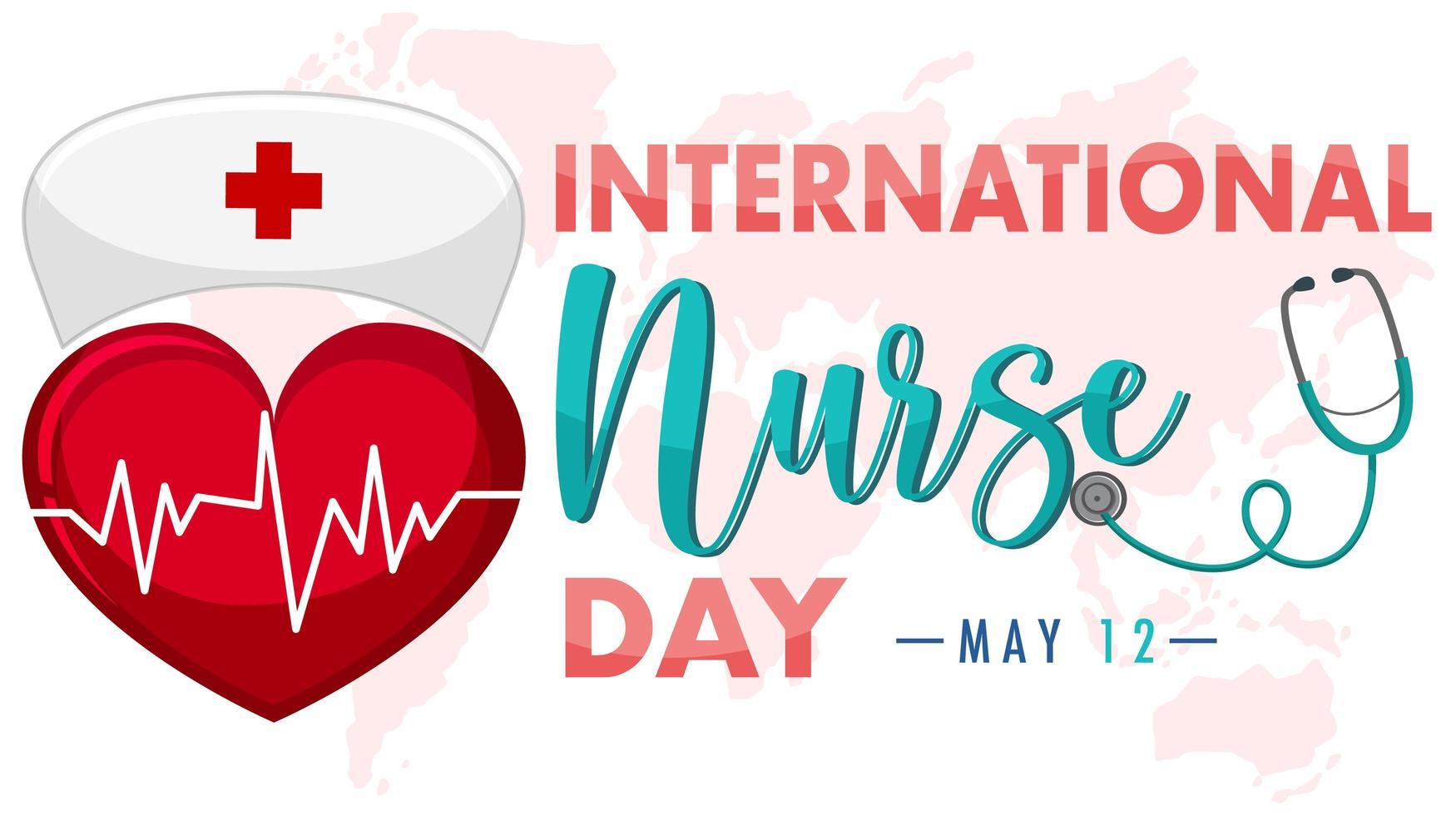 banner del día internacional de la enfermera vector
