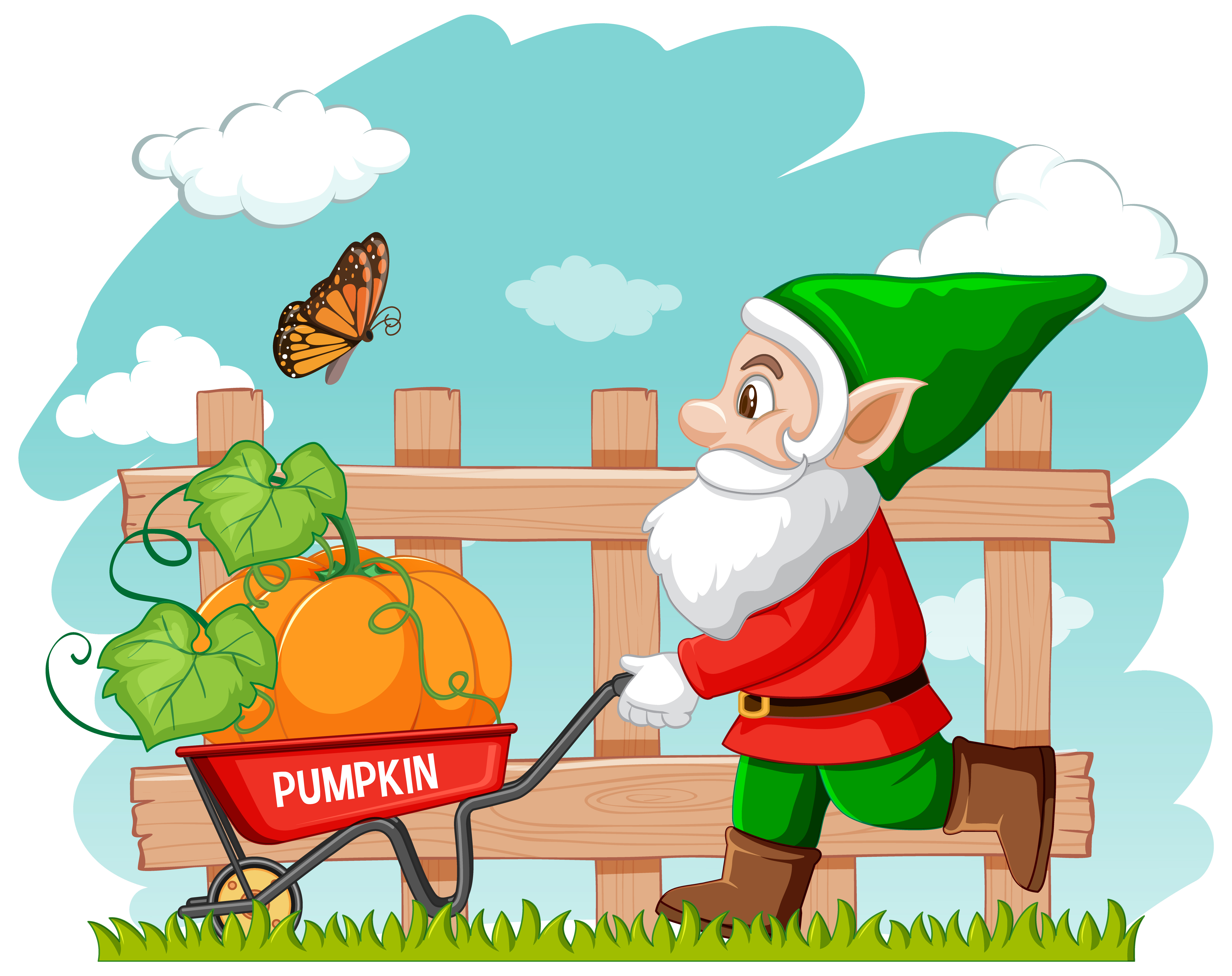 Download HD Free Download Travelocity Gnome Vector Clipart Garden - Gnome  Travel Transparent PNG Image - NicePNG.com