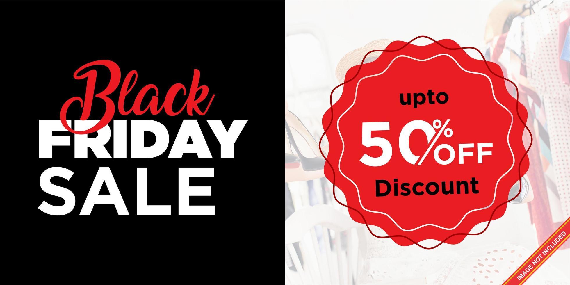 banner de venta simple de viernes negro vector
