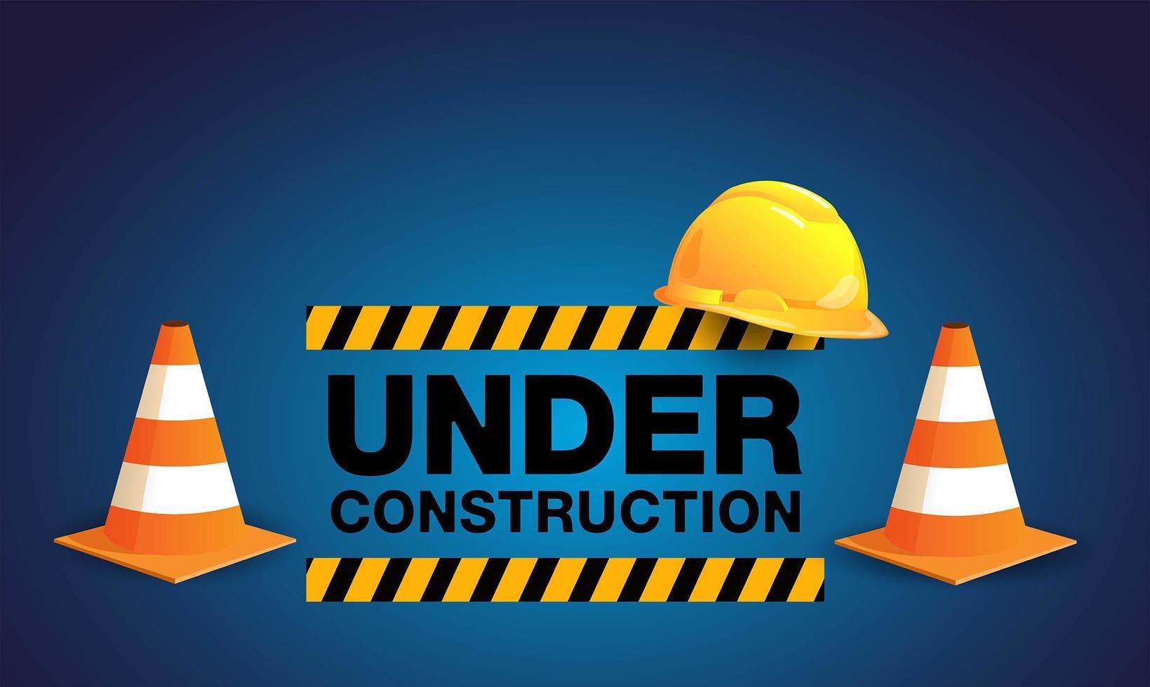 Building under construction site vector