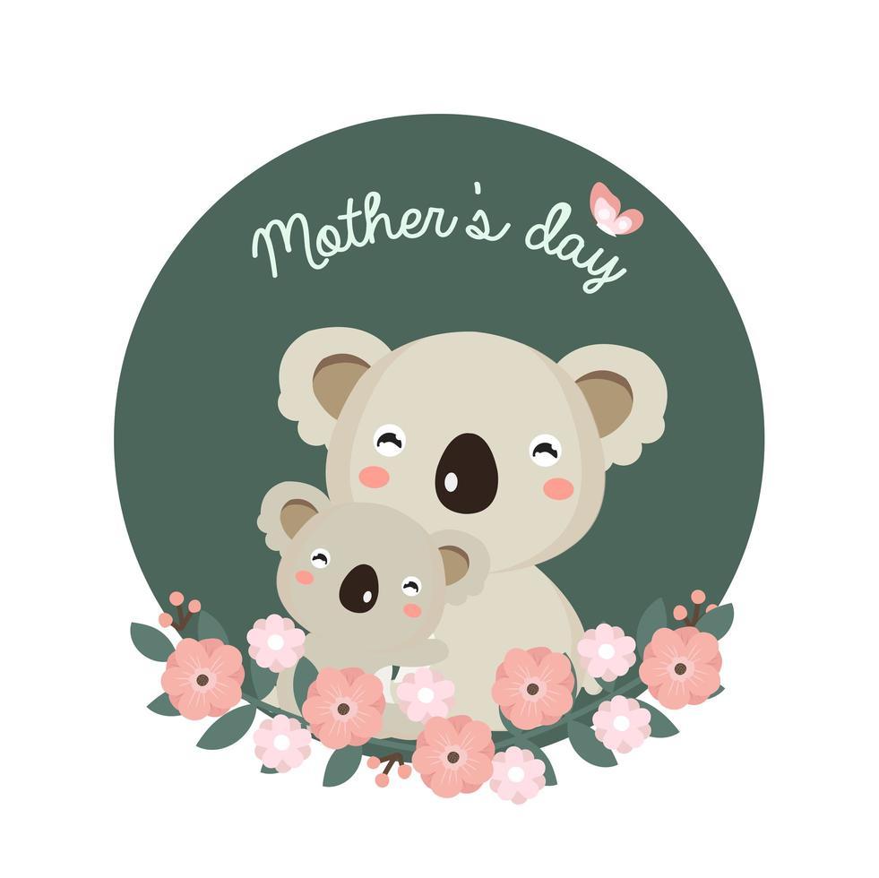 koala mamá y bebé para la celebración del día de la madre vector