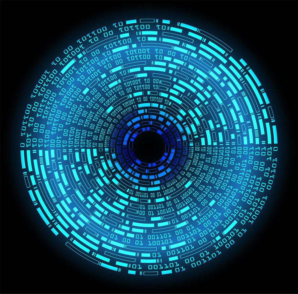 Blue eye cyber circuit future technology background vector