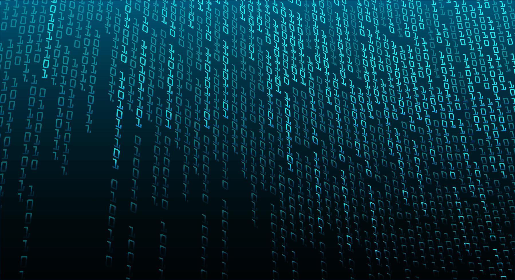 fondo de tecnología futura del circuito cibernético binario azul vector