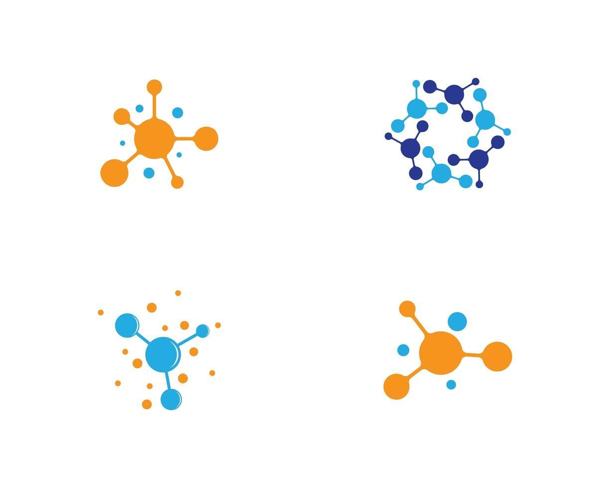 Set of molecule logo images vector