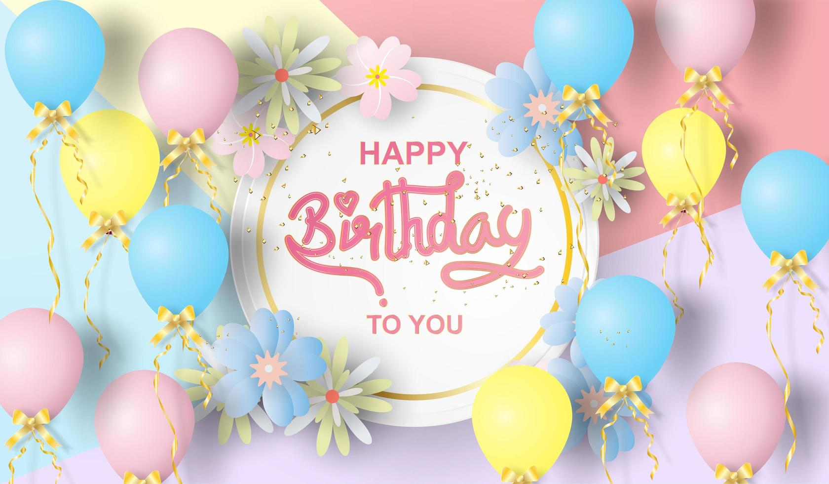 Paper Art Of Happy Birthday Download Free Vectors Clipart Graphics Vector Art