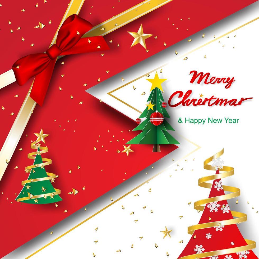 Buon Natale Arte.Arte Di Carta E Artigianato Di Buon Natale E Felice Anno Nuovo Scarica Immagini Vettoriali Gratis Grafica Vettoriale E Disegno Modelli