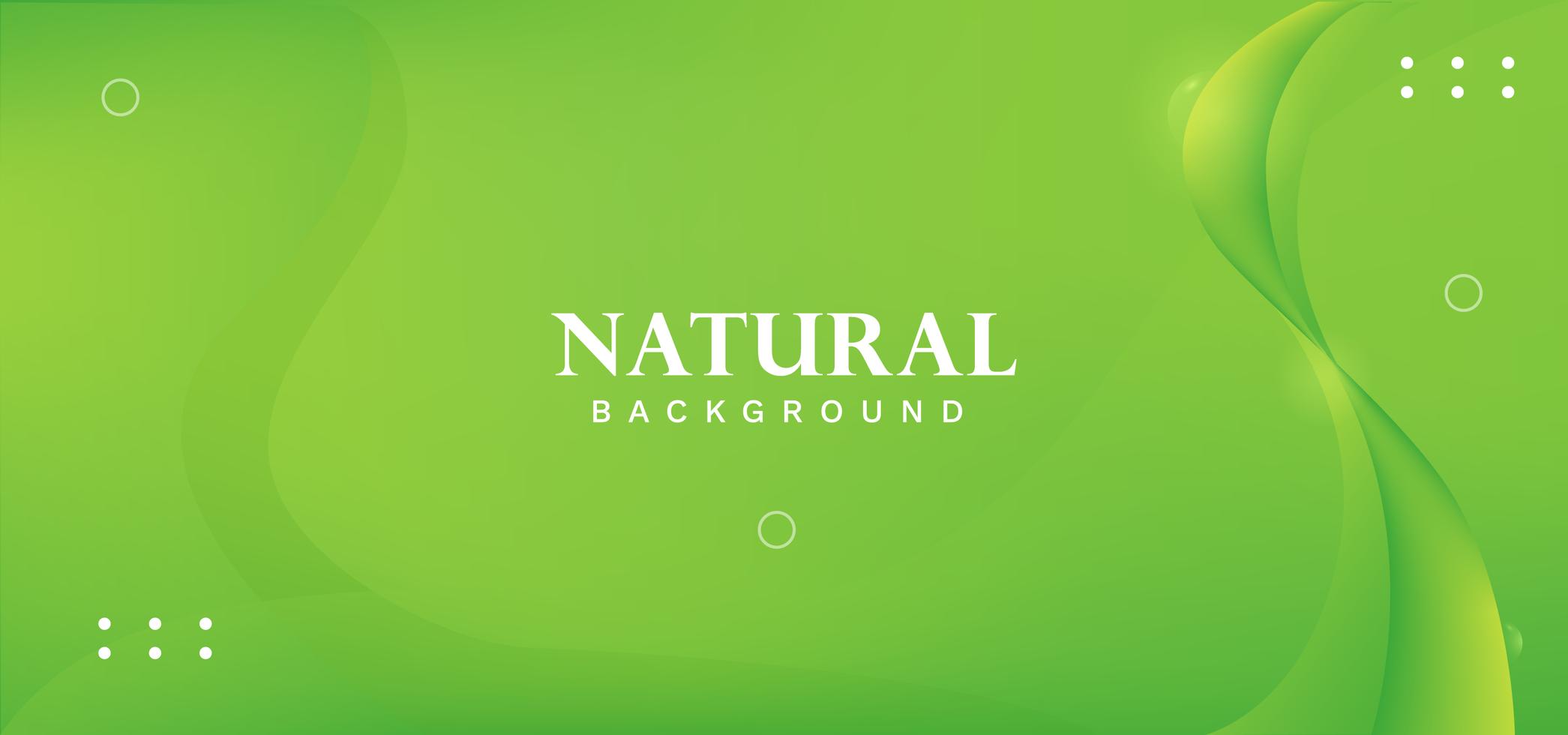 Green natural abstract wave design vector