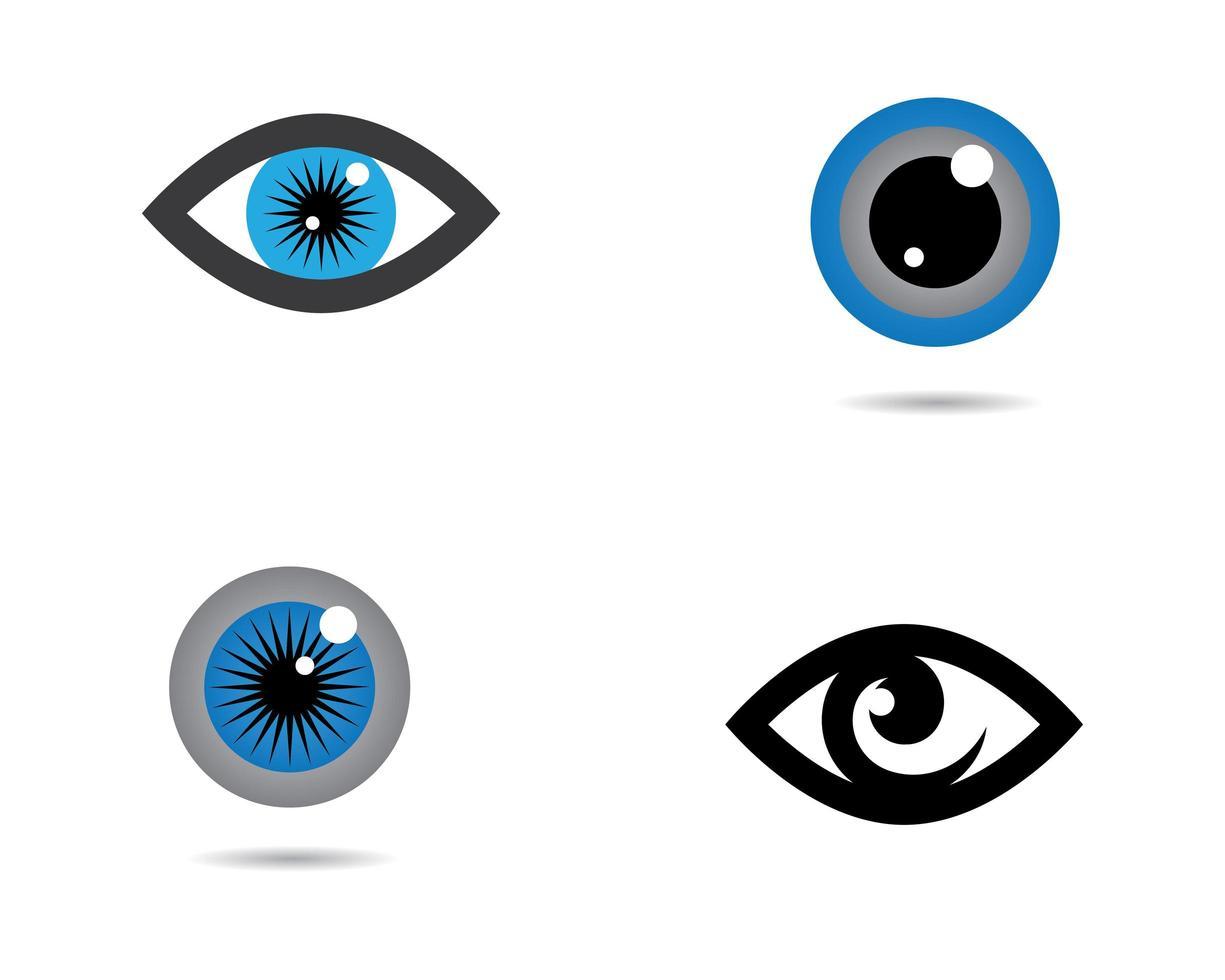 Eye images logo set vector