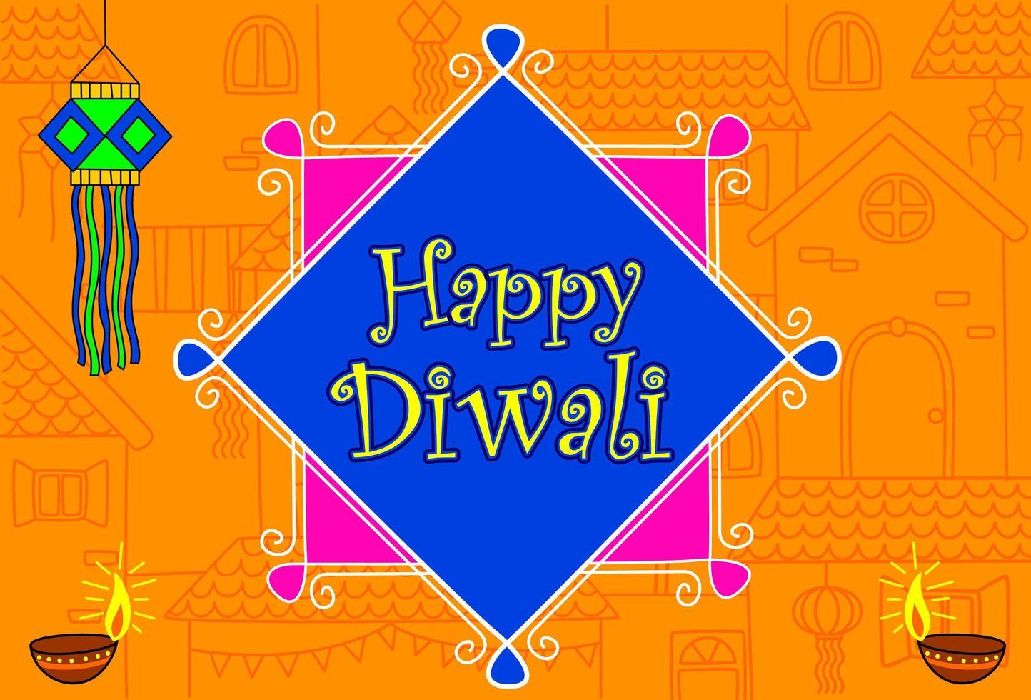 Indian Diwali Festival Wallpaper vector