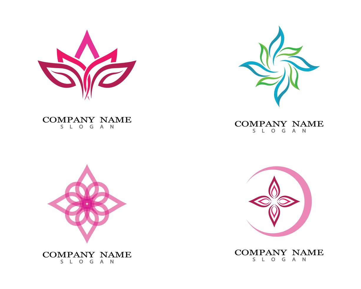 Lotus flower images logo vector