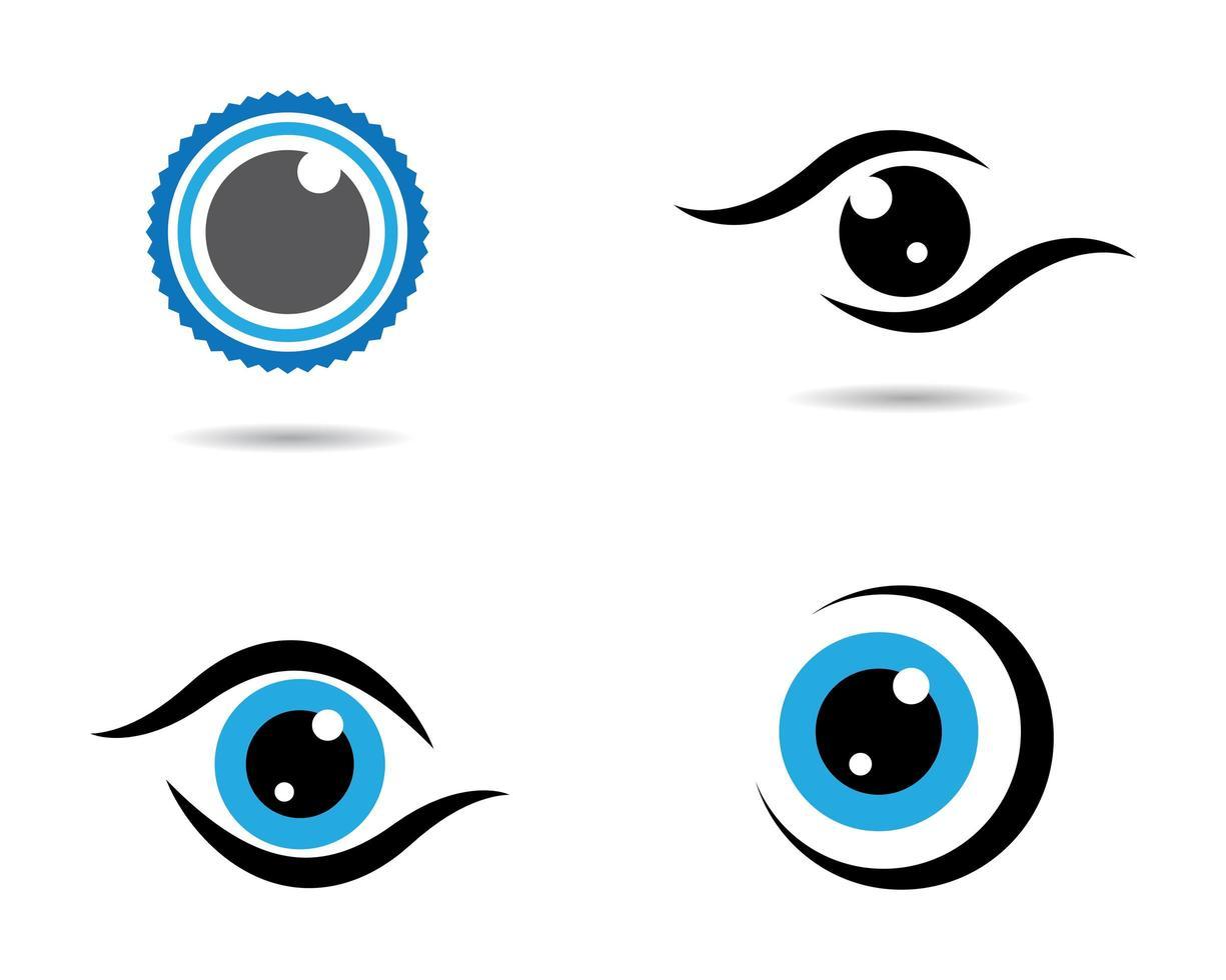 Eye logo images vector