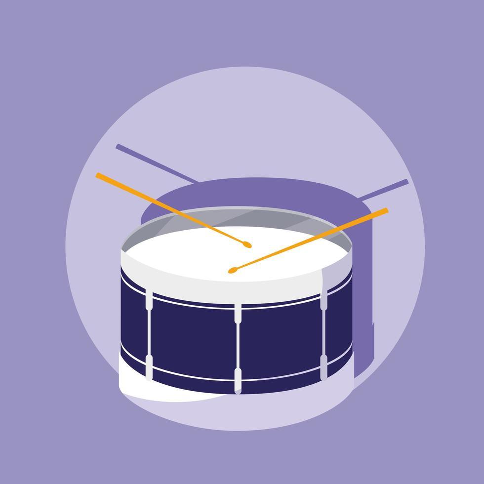 Percussion drum musical instrument vector
