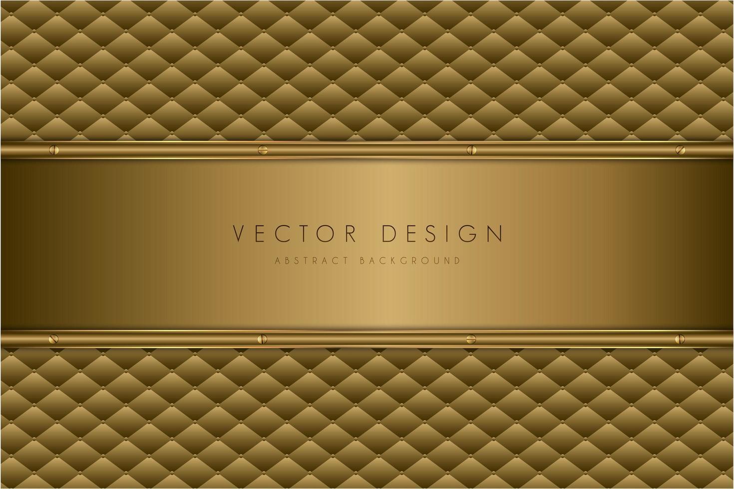 textura de metal dorado de lujo con tapicería. vector