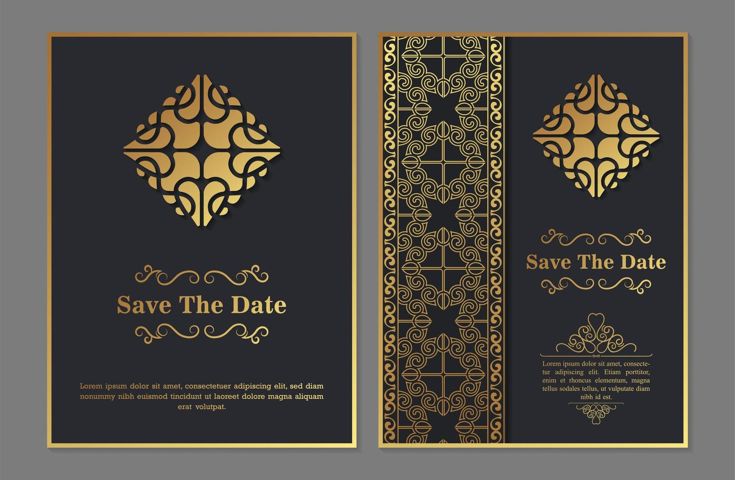 Luxury invitation template with abstract ornament - Download Free
