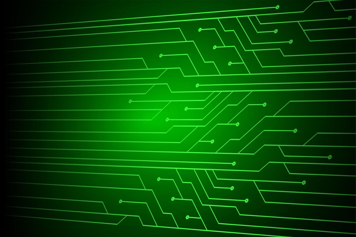 Simple green cyber circuit future technology vector