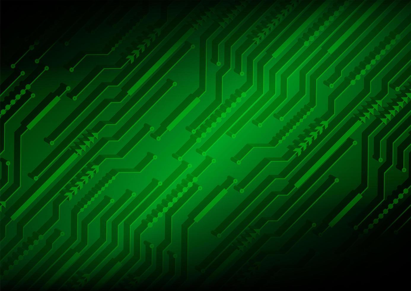 Fondo de concepto de tecnología futura de circuito verde vector