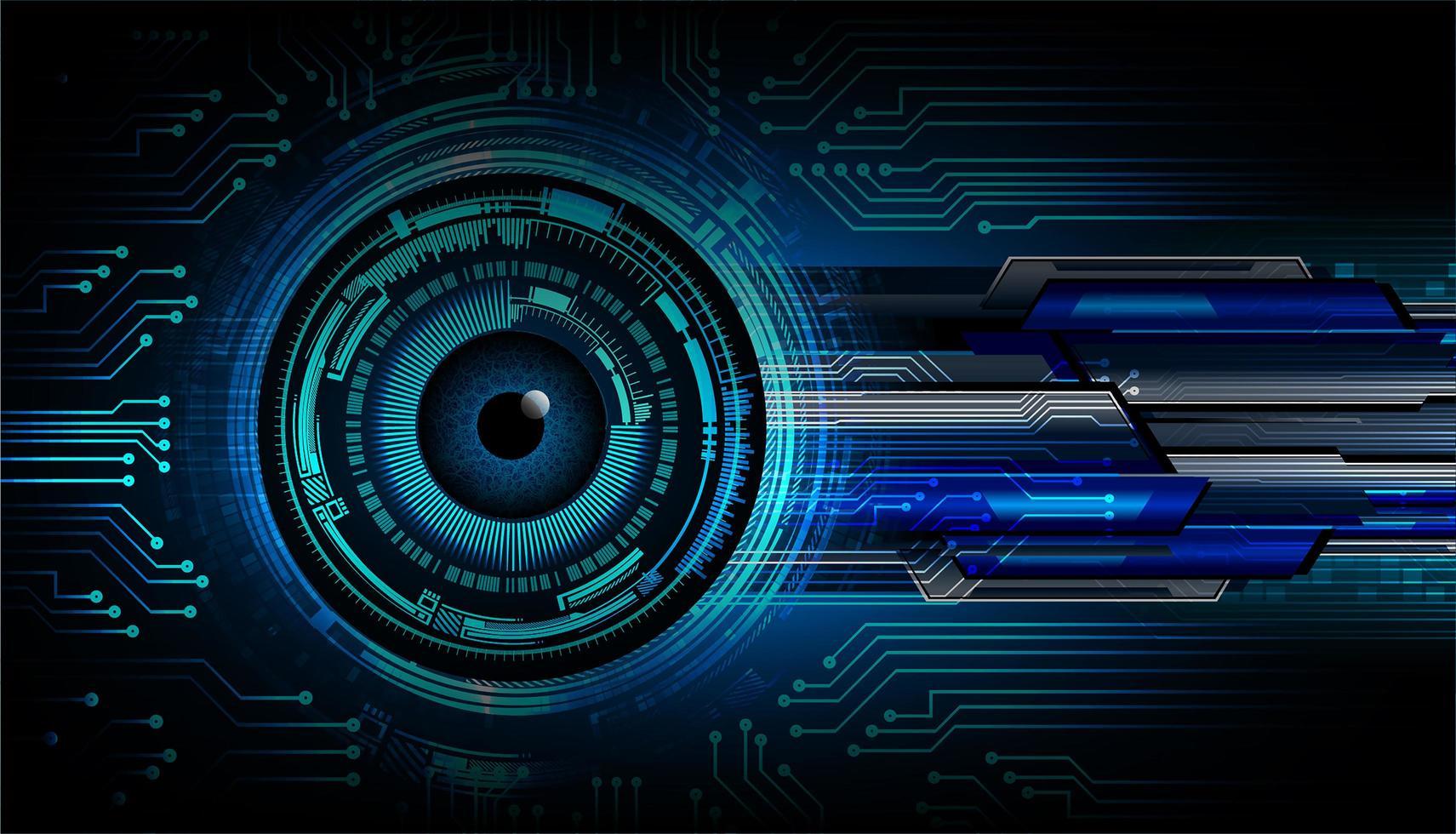 Blue eye cyber circuit future technology concept  vector