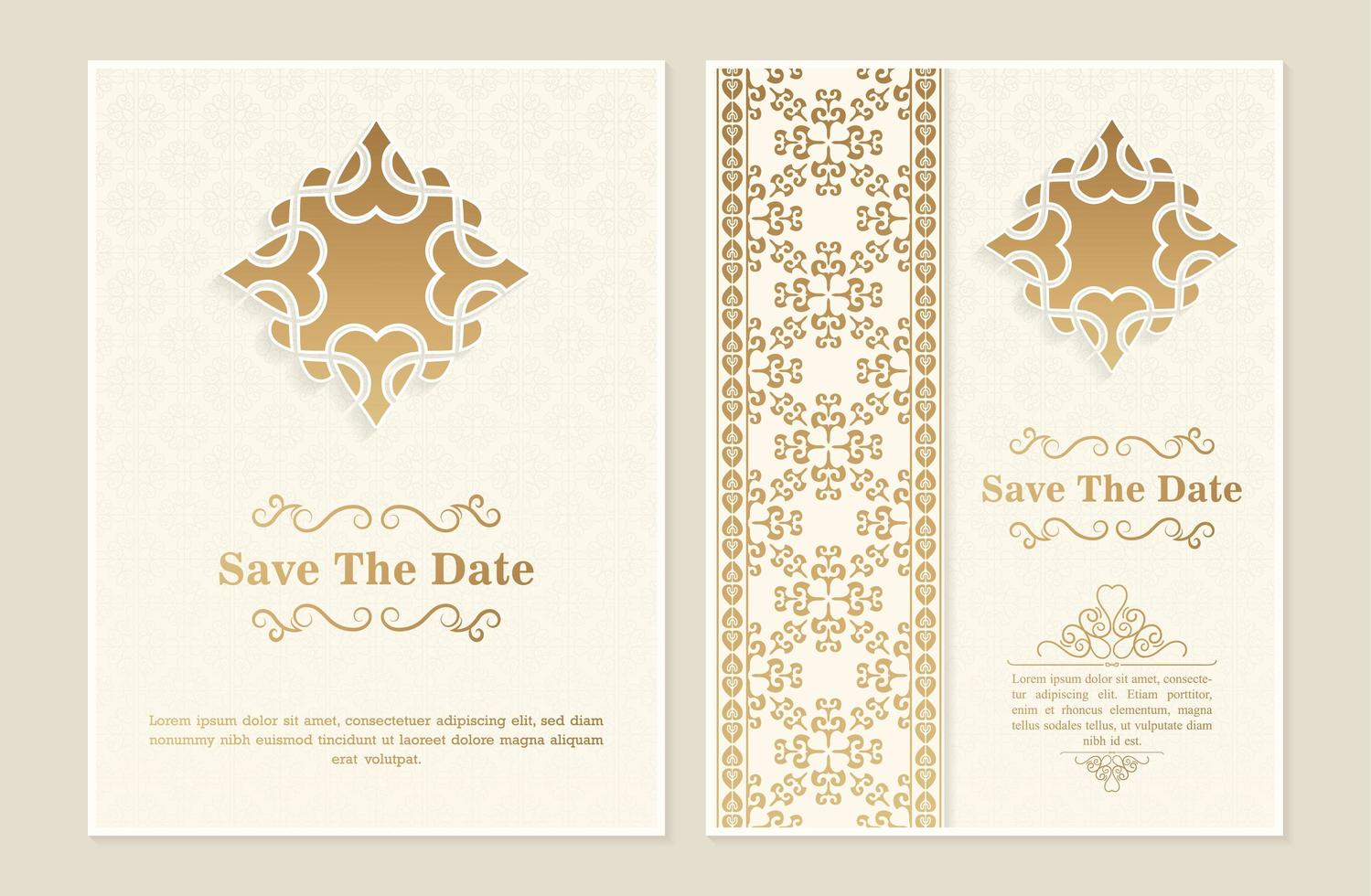 Invitation template with abstract ornaments - Download Free