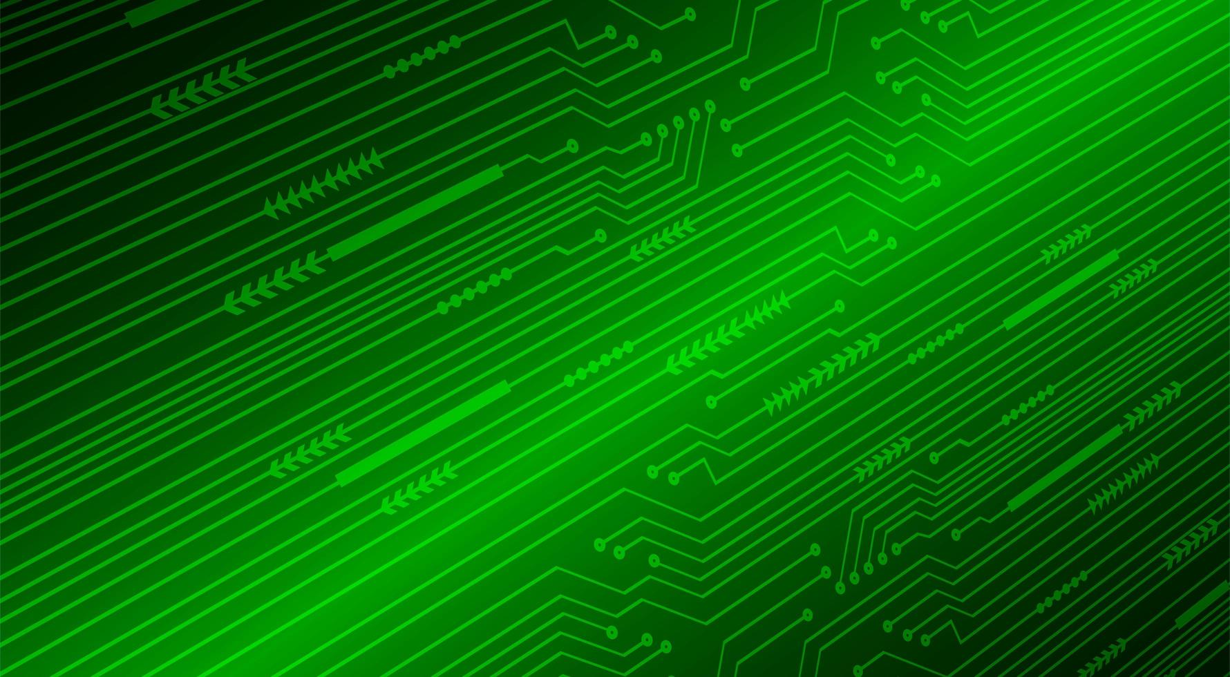Green cyber circuit future technology concept background vector