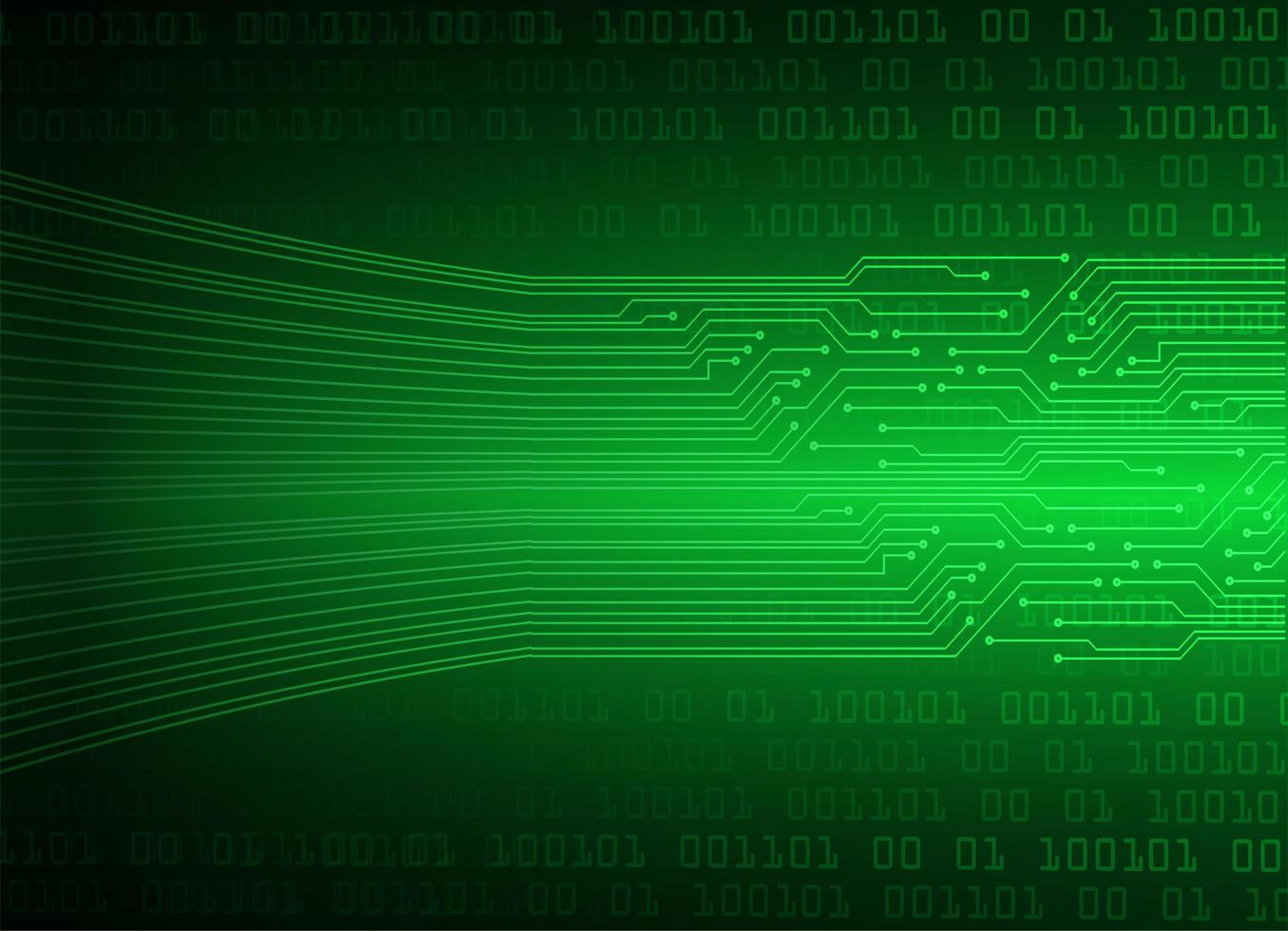 Green cyber circuit future technology background vector
