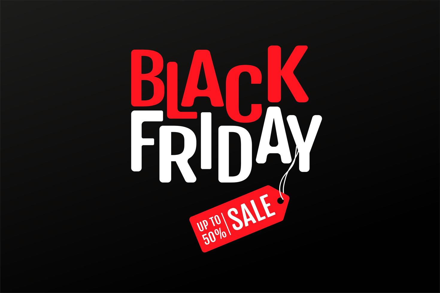 Black Friday text and product discount price tags vector