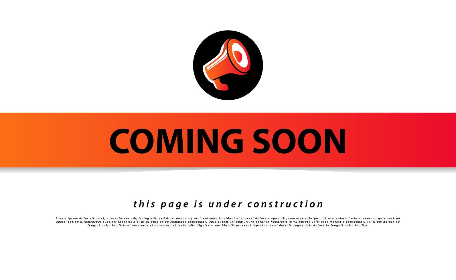 Coming soon and under construction landing page design vector