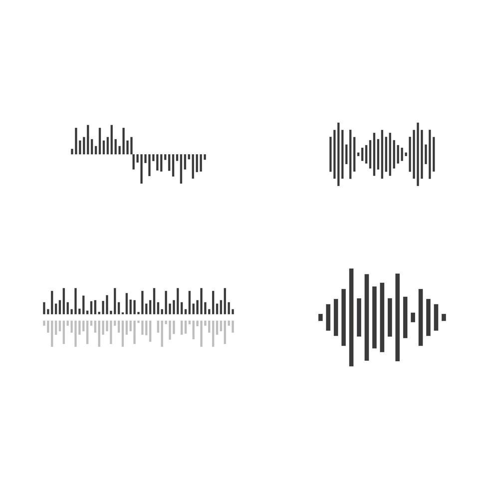 conjunto de imágenes de ondas de sonido vector