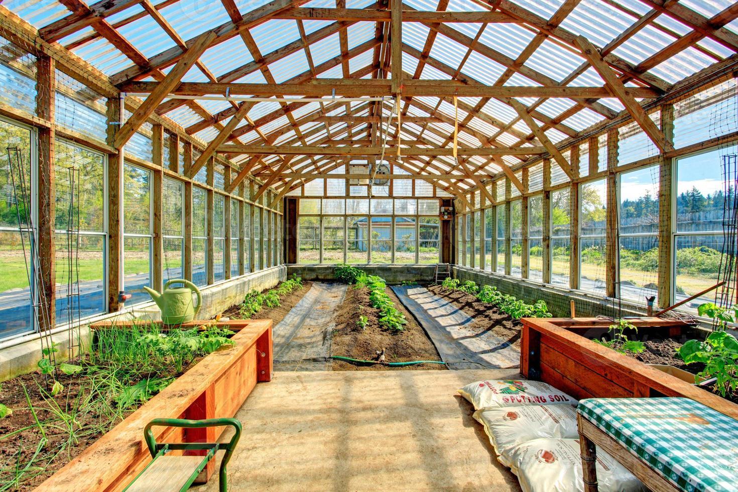 invernadero de gran granja foto