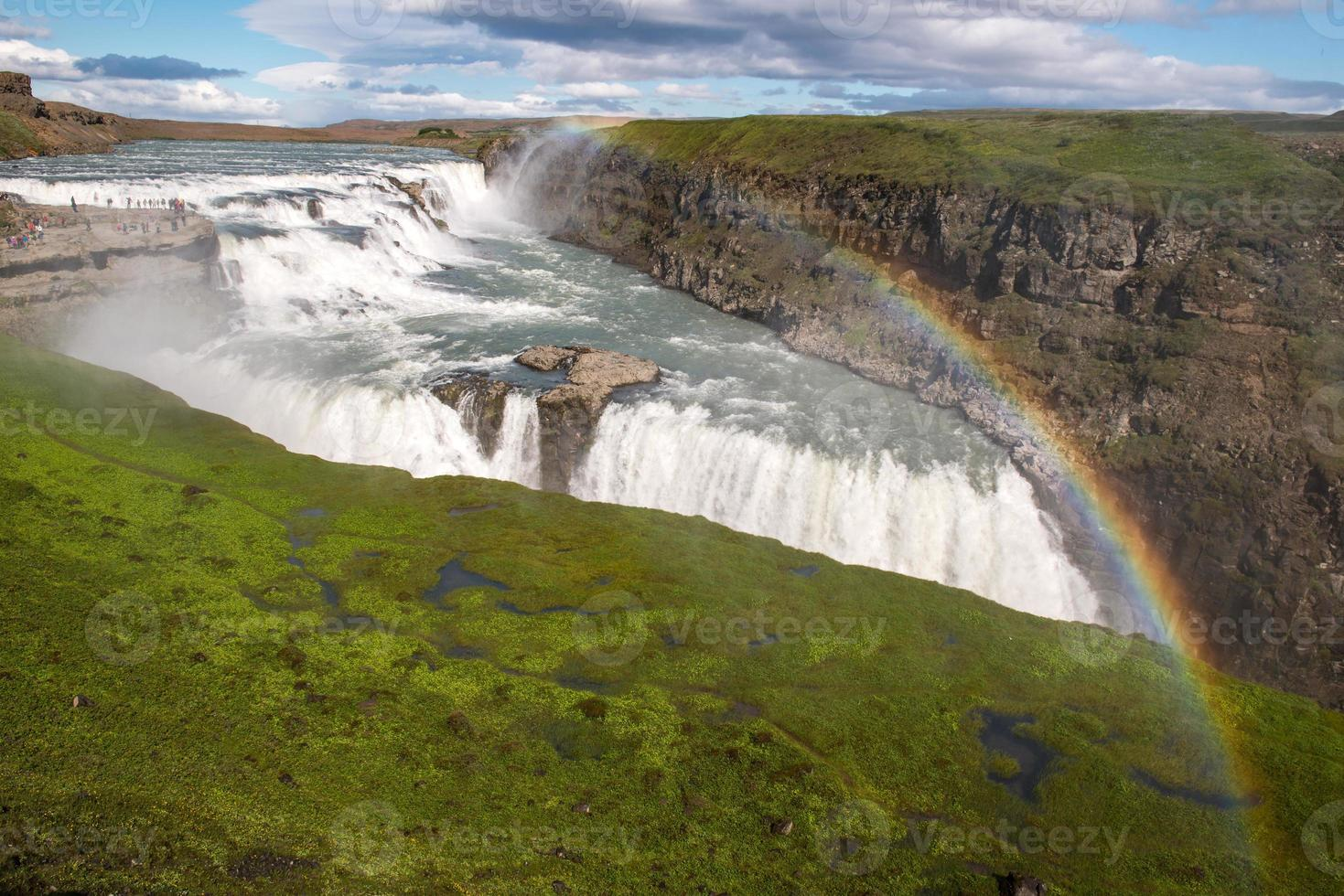 cascada de gullfoss, islandia foto