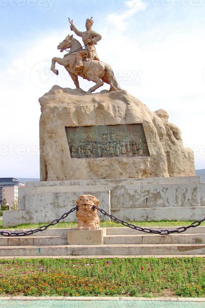 monumento en ulaanbaatar, mongolia foto