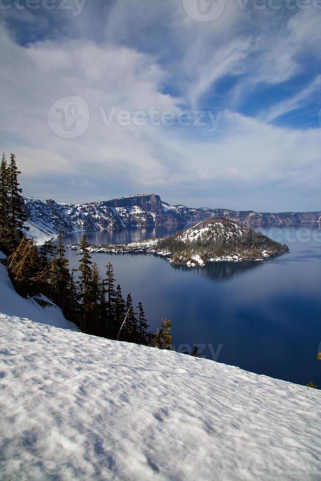 parque nacional del lago del cráter foto