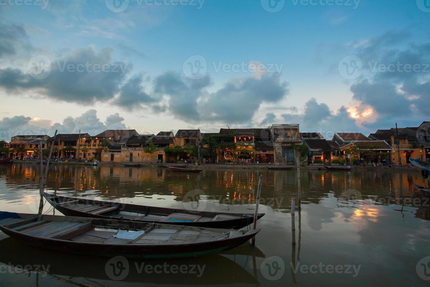 Hoi An at Twilight time, Vietnam photo