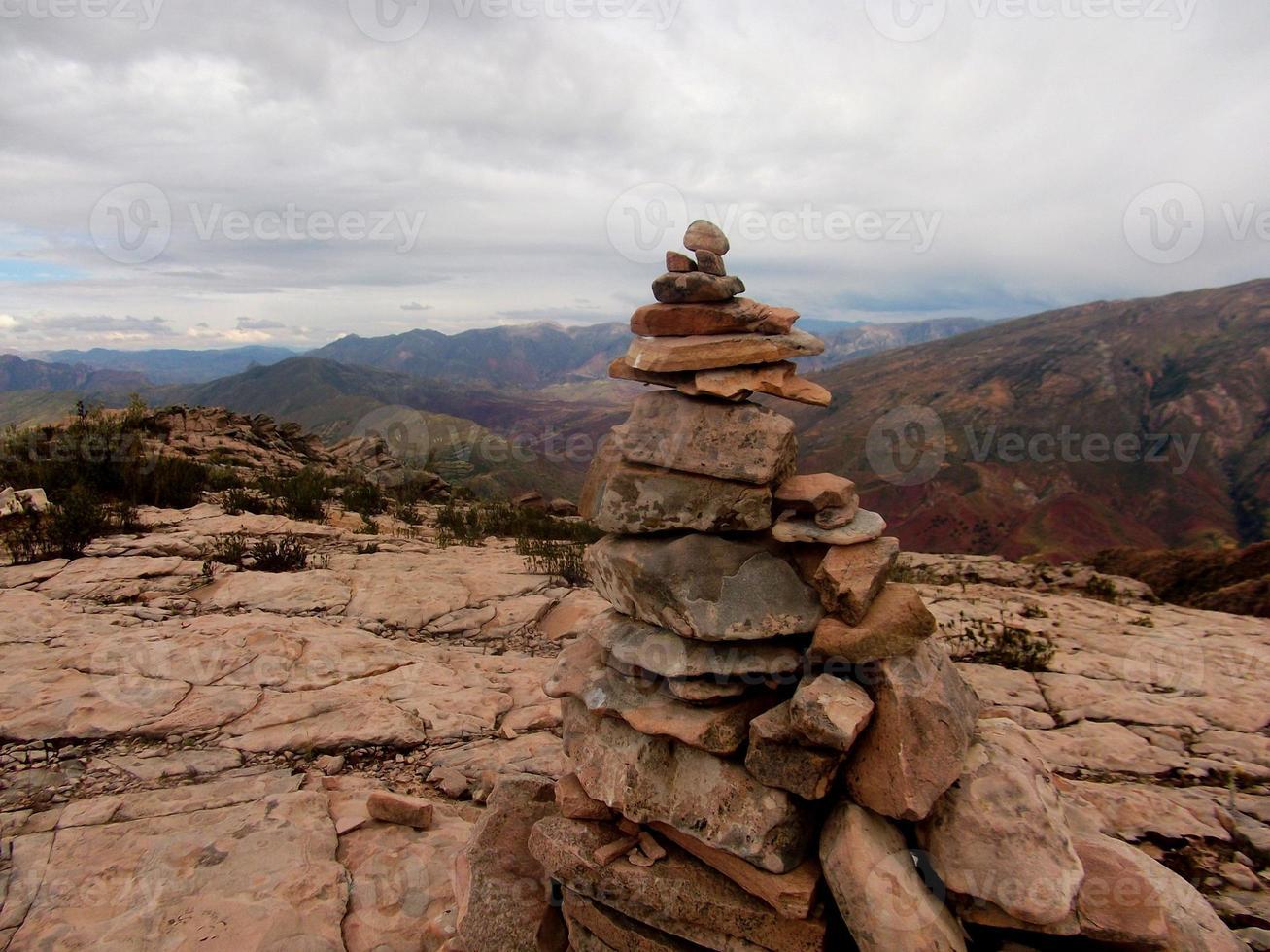 Bolivia montañas panorama sucre camino inca senderismo foto